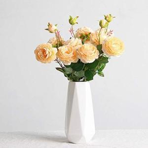 Fukuka 花瓶 フラワーベース 花器 セラミック おしゃれ 北欧 陶器 生け花 インテリア 家の装飾 (白4)|you-mart-smile