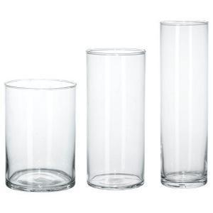 ★シリンデル / CYLINDER 花瓶3点セット / クリアガラス[イケア]IKEA(60175214)|you-mart-smile