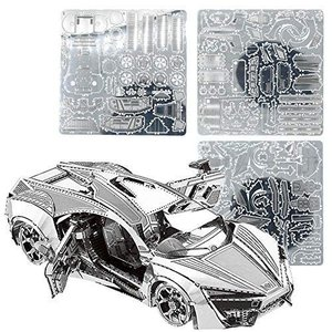 roulette メタルパズル 3D立体パズル スーパーカー パーツ 組立て 工作キット 車 金属タイプ 機械模型 想像力 脳トレ プレゼン|you-mart-smile
