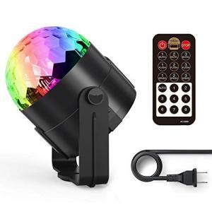 ディスコライト、Fooxonサウンドアクティブ化されたDJディスコライト回転ボールライト5W 8モードRGB LEDステージライト屋外祝日ダ|you-mart-smile