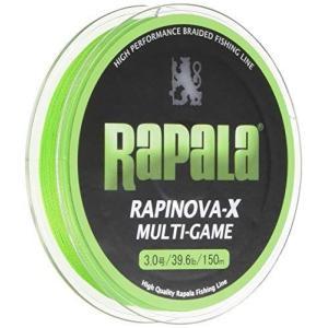 Rapala(ラパラ) PEライン ラピノヴァX マルチゲーム 150m 3.0号 39.6lb 4本編み ライムグリーン RLX150M3|you-mart-smile