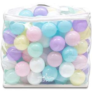 RiZKiZ(リズキズ) カラーボール パステル 6色 100個入り 直径5.5cm 【やわらかポリエチレン製】 (プール/ボールハウス/キ|you-mart-smile