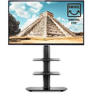 TVON テレビスタンド 27?55インチ対応 ラック回転 壁寄せテレビスタンド 高さ調節可能 耐荷重40KG 液晶 テレビ台 回転台 TV|you-mart-smile