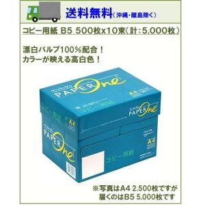 コピー用紙 高品質コピー用紙 B5 500枚×10束(1箱)5000枚 白色度 約95% アカシアパルプ 100% ペーパーワン Copy&Laser後継 ポイント消化|you-new