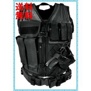 タクティカルベスト ミリタリーベスト SWAT ブラック NcStar  Black CTVL2916B ラージサイズ (XXL-5XL) you-new
