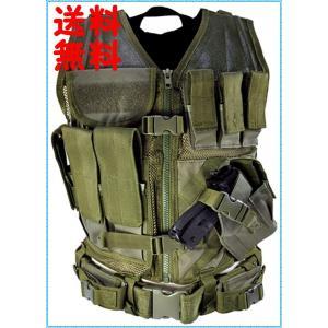 タクティカルベスト ミリタリーベスト SWAT 緑 NcStar  Green CTVL2916G ラージサイズ (XXL-5XL) you-new