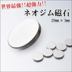 ネオジム磁石 20mmx3mm(大)3個セット・10mmx2mm(小)6個セット 使い方色々!強力!世界最強!ポイント消化|you-new