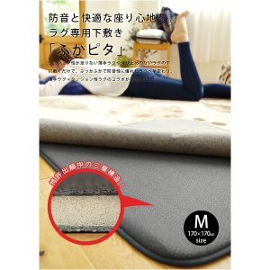 防音 ふかふか下敷き専用 ラグマット 〔約170cm×170cm 2帖用〕 正方形 洗える 折りたたみ 防滑 床暖房可 『ふかぴた』〔代引不可〕|you-new