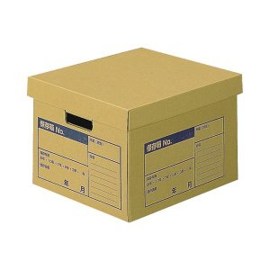 【商品名】 (まとめ) コクヨ 文書保存箱(A判ファイル用) フタ分離式 A4用 内寸W380×D3...