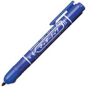 (業務用200セット) ZEBRA ゼブラ 油性ペン/マッキーノック 〔細字/青〕 ノック式 P-Y...
