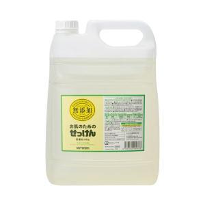 (まとめ) ミヨシ石鹸 無添加 洗濯用液体せっけん 詰替 5L〔×5セット〕