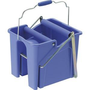 ペダル式 モップ絞り器/掃除道具 〔ブルー〕 幅31cm 容量14L 樹脂製 耐腐食性 『山崎産業 コンドル スクイザー V』|you-new