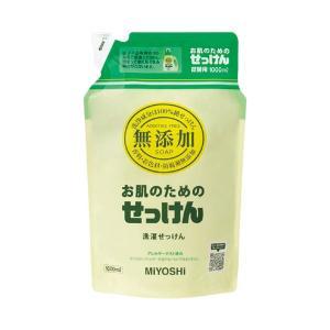 (まとめ)ミヨシ石鹸 無添加 洗濯用液体せっけん 詰替 1000mL〔×10セット〕
