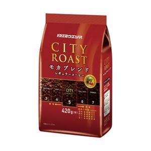 (まとめ)ユーコーヒーウエシマ シティーロースト モカブレンド 1袋(420g)〔×10セット〕