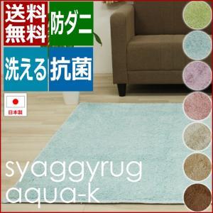 日本製 防ダニ ラグ アクアK(Ky) 約95×130cm 抗菌加工 ホットカーペット・床暖房対応|youai