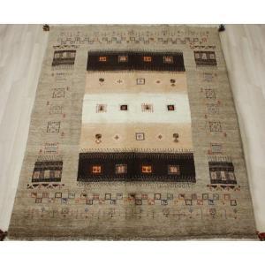 手織りラグマット 民族ラグ ペルシャギャベ BB24984 (Y) 約148×195cm ブラウン系 天然草木染め 天然素材ラグ 輸入ラグマット ウール|youai