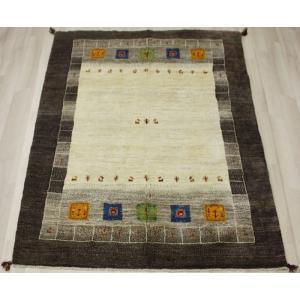 手織りラグマット 民族ラグ ペルシャギャベ BB25907 (Y) 約169×248cm ブラウン系 天然草木染め 天然素材ラグ 輸入ラグマット ウール|youai