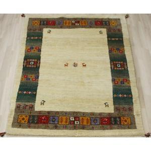 手織りラグマット 民族ラグ ペルシャギャベ BB27112 (Y) 約166×241cm ベージュ系 天然草木染め 天然素材ラグ 輸入ラグマット ウール|youai