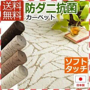 カーペット 4.5畳 絨毯 じゅうたん 安い 激安 江戸間4.5帖カーペット モダンカーペット 4畳半 約261×261cm ビリーブ (N)|youai