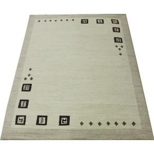 ウールマーク付 純ウール wool rug 輸入 モダン ギャベ柄 無染色 17万ノット ウィルトン キャラバン2(N) 約160×230cm|youai