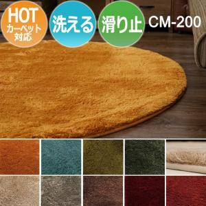 絨毯 ラグマット ラグ カーペット ホットカーペット対応 洗濯できる マイクロファイバー 滑り止め 円形 約190×190cm CM-200 (SUL)|youai