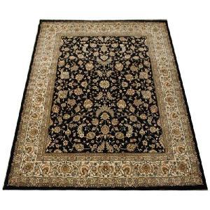 約50万ノット ウイルトン絨毯 激安 輸入カーペット 約200×250cm ブラックカーペット 黒絨毯 黒色カーペット DA57356 (Y) 引っ越し 新生活|youai
