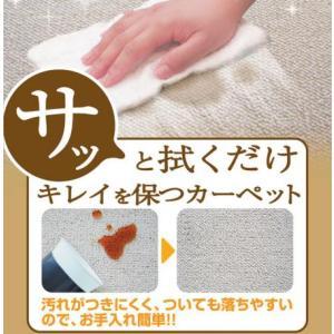 カーペット 3畳 三畳  3帖 176×261cm  ラグマット 防汚カーペット リビング 寝室 子供部屋 ダイニング ガード mikur aミクラ 日本製|youai