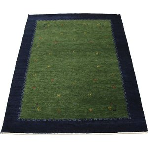 高密度インドギャベラグ 約136×198cm グリーン 4588(Y)|youai