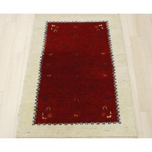 高密度インドギャベマット 約87×150cm レッド 4588(Y)|youai