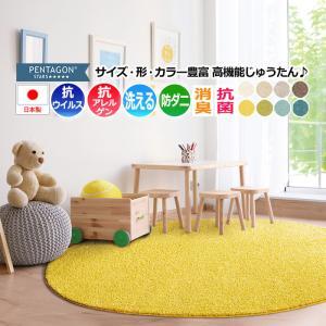 シャギーラグ ラグ ラグマット カーペット 絨毯 じゅうたん 北欧モダンラグ プレーベル prevell 約200×200cm (円形) ジャスパー|youai