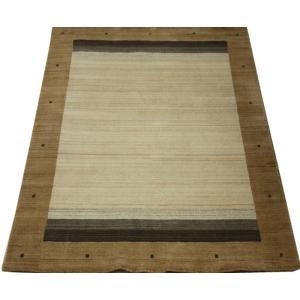ギャベラグ インドギャベ ロリバフ LB-1911N (Y) 約140×200cm 輸入絨毯 ラグマット ウール ナチュラルカラー youai