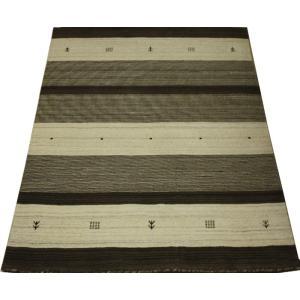 ギャベラグ インドギャベ ロリバフ LB-1912N (Y) 約140×200cm 輸入絨毯 ラグマット ウール ナチュラルカラー youai