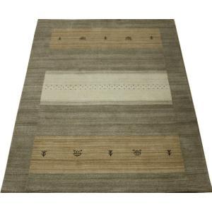 ギャベラグ インドギャベ ロリバフ LB-1913N (Y) 約140×200cm 輸入絨毯 ラグマット ウール ナチュラルカラー youai