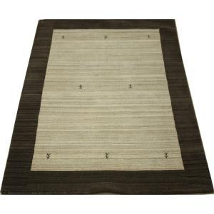 ギャベラグ インドギャベ ロリバフ LB-1914N (Y) 約140×200cm 輸入絨毯 ラグマット ウール ナチュラルカラー youai