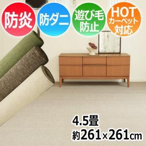 カーペット 4.5畳 絨毯 じゅうたん 安い 激安 江戸間4.5帖カーペット 約261×261cm LE (S) 半額以下|youai