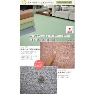 カーペット 4畳半 261×261cm 防炎 絨毯 安い リビング 寝室 おしゃれ オシャレ マカロンループ(N)|youai|02