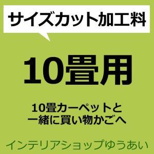 10畳カーペットからサイズカット 加工料 フリーカット サイズ加工 (H)|youai