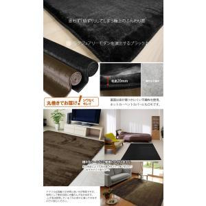 フェイクファーラグ カーペット 約200×250cm ロイヤルファー(Y)|youai|04