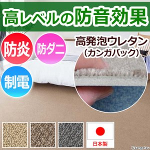 防音カーペット 10畳カーペットラグ 十畳,10畳,10帖 (約352×440cm ) サンコーラス (Nm) youai
