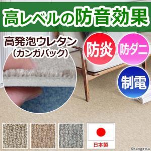 防音カーペット 3畳カーペットラグ 三畳 3畳 (約176×261cm) サンシンフォニー (Nm)|youai