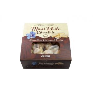 チョコレート ポップコーン マウイ ホワイトチョコレート with ハワイアンキャラメルクリスプ  50g×4個|youbetsuen-y