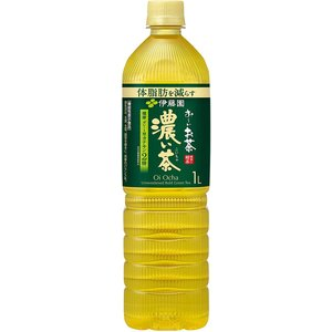 お茶 おーいお茶 濃い茶 緑茶 1L ×12本 (機能性表示食品) ペットボトル お〜いお茶 伊藤園|youbetsuen-y