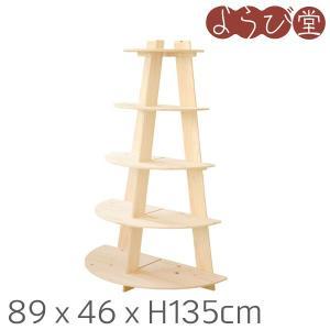 組み立て式木製商品陳列棚什器。高さは75cmの卓上タイプ、135cmのスタンド型と2種類あります。 ...