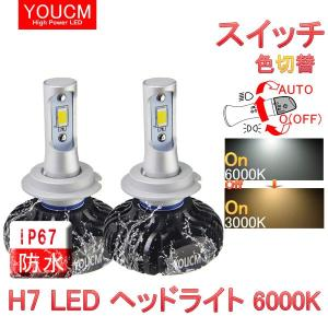 ホンダ シビック Type R H27.10〜 FK2 ハイビームスイッチ色変換LEDヘッドライト H7 ハイパワーLED 6000K/3000K[1年保証][YOUCM] youcm