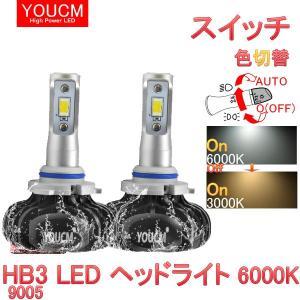 日産 ノート H28.11〜 HE12 e-PAWER ハイビーム スイッチ色変換 LEDヘッドライト HB3(9005) ハイパワーLED 6000K/3000K DC 12v[1年保証][YOUCM]|youcm