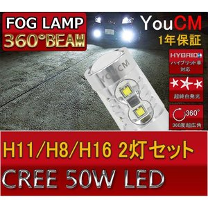 BMW X5 H19.6〜H22.4 E70 フォグランプ専用LED H8/H11/H16 50W ハイパワー[1年保証][YOUCM]|youcm