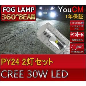 PY24 30W ハイパワー フォグランプ専用LED 左右2個セット[1年保証][YOUCM]|youcm