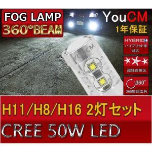H8/H11/H16 50W ハイパワー フォグランプ専用LED 左右2個セット[1年保証][YOUCM] youcm