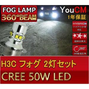 H3C 50W ハイパワー フォグランプ専用LED 左右2個セット[1年保証][YOUCM]|youcm