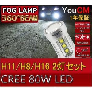 H8/H11/H16 80W ハイパワー フォグランプ専用LED 左右2個セット[1年保証][YOUCM]|youcm